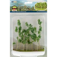 Woods Edge Trees Pastel Green 4 to 5.5 O-scale 8/pk