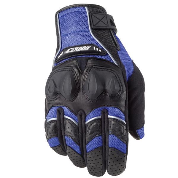 Joe Rocket Phoenix 4.0 Mens Blue Leather/Textile Motorcycle Gloves