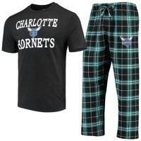 b7508067dff498 Product Image Charlotte Hornets Concepts Sport Duo T-Shirt   Pants Sleep  Set - Black Teal