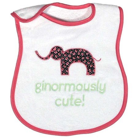 Raindrops Baby Girls Ginormously Cute Appliqued Bib, Strawberry