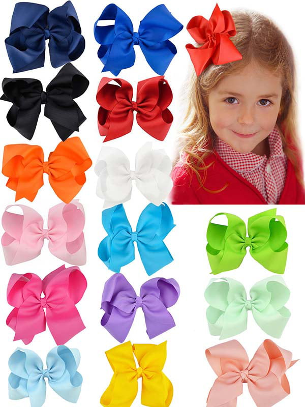 bow Crocodile clip NEW girls Gift Box Character Surprise doll hair bows