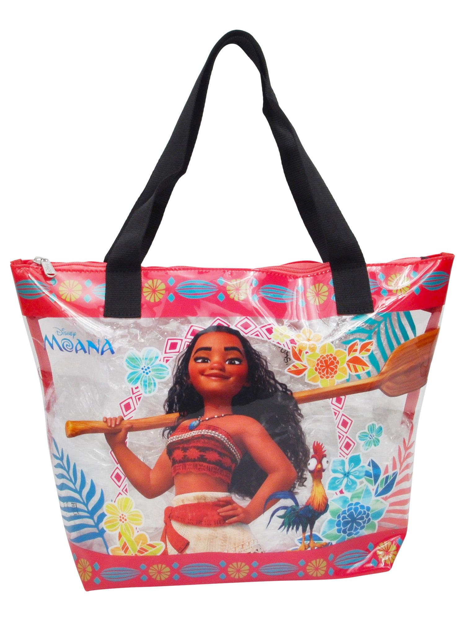 Girls Moana Large Beach Tote Bag Clear