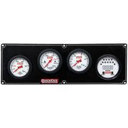 Quickcar Racing Products White Face Gauge Panel Assembly P/N 61-7042