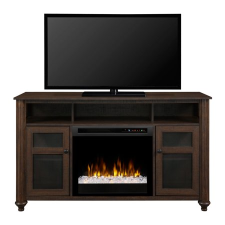 Dimplex Xavier Media Console Electric Fireplace With Glass Ember Bed ()
