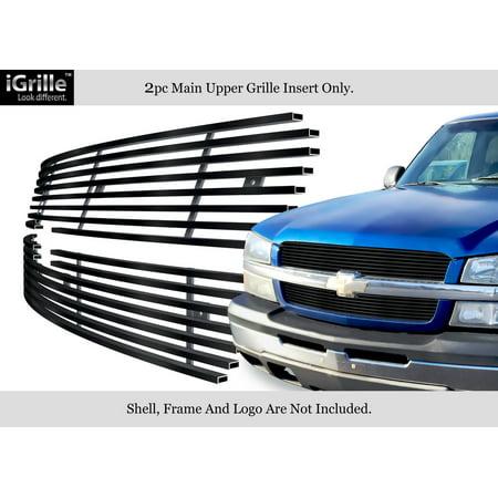Black 304 Stainless Steel Billet Grille 02-05 Chevy Silverado 1500/Avalanche Chevrolet Silverado Stainless Steel Billet