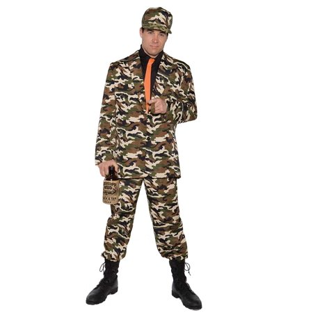 Beau Starr Halloween (Adult Male Bayou Beau Camo Suit Costume by Underwraps Costumes)