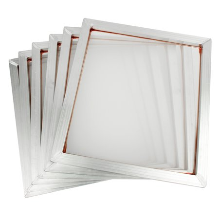 6Pcs Aluminum Silk Screen Printing Press Screen Frame w 110 Mesh Count