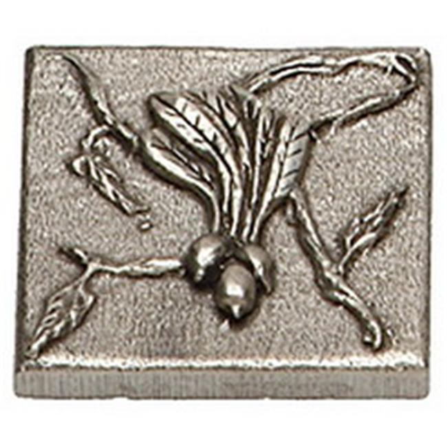 Premier Hardware Designs PHDT-2-NP Oil Rubbed Bronze Beet Tile with Vine, 2 x 2 Inch