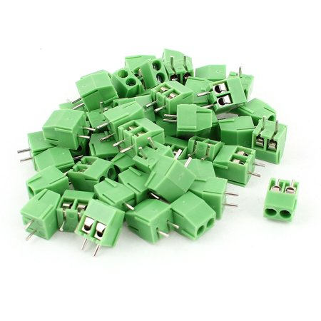 50pcs 2 Poles 3 5mm Pitch PCB Screw Terminal Block Connector