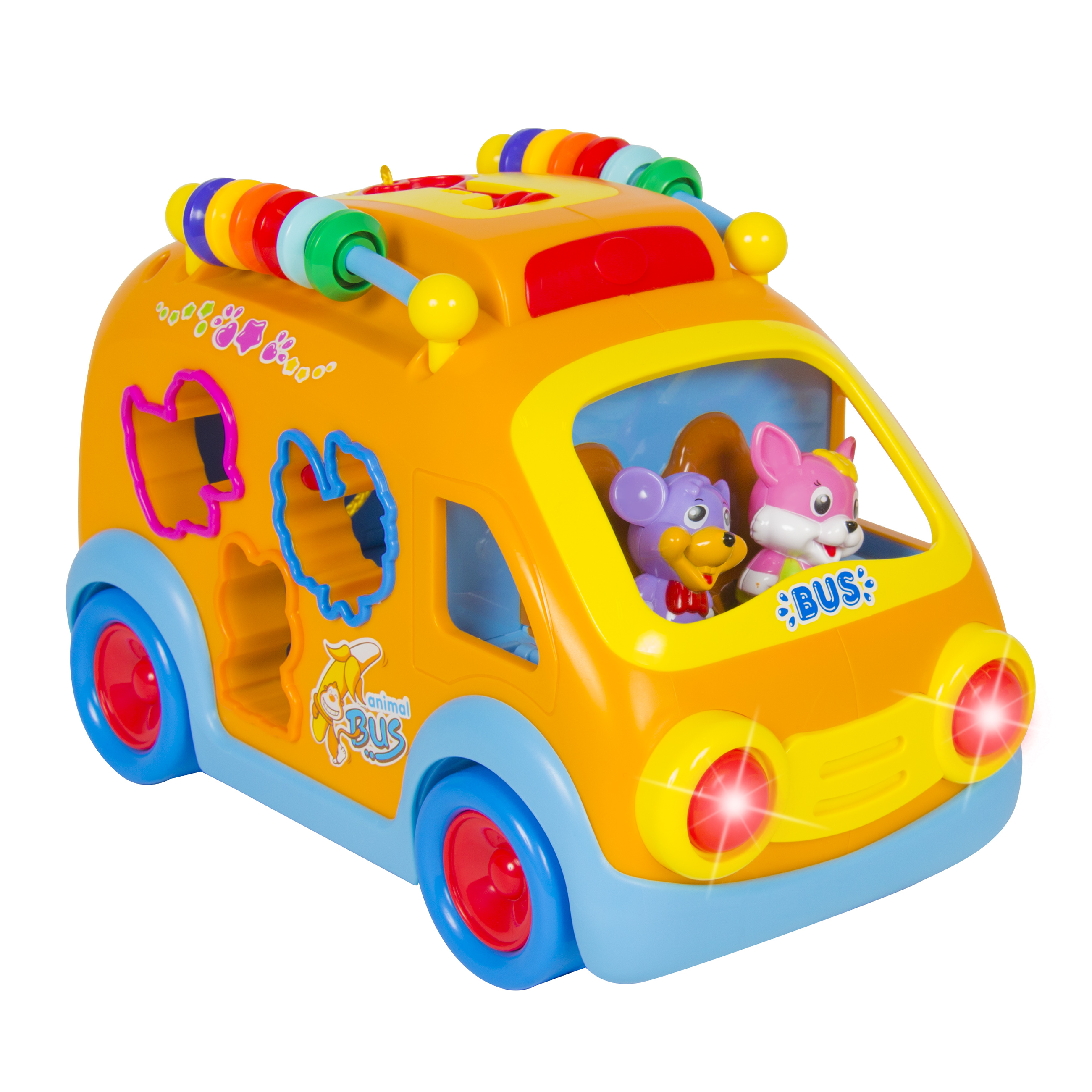 Toy Happy Educational School Bus Bump'n'Go, Music, Animal Sounds, Lights, Games