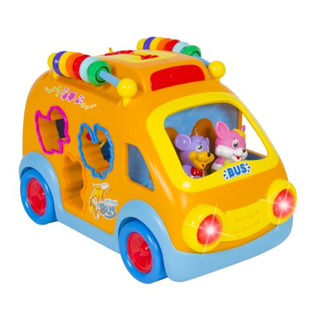 Toy Happy Educational School Bus Bumpngo  Music  Animal Sounds  Lights  Games
