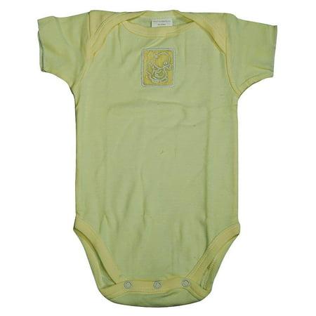 - Little Giraffe - Unisex Baby, Short Sleeved Bodysuit Yellow / 6 Months