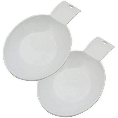 Range Kleen 1-Piece Spoon Rest, White (Melamine Spoon Rest)