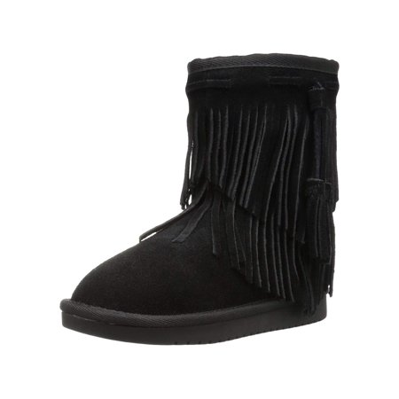 Koolaburra By Ugg Girls' Cable Fashion Boot, Black, Size 05 Youth Us Big Kid