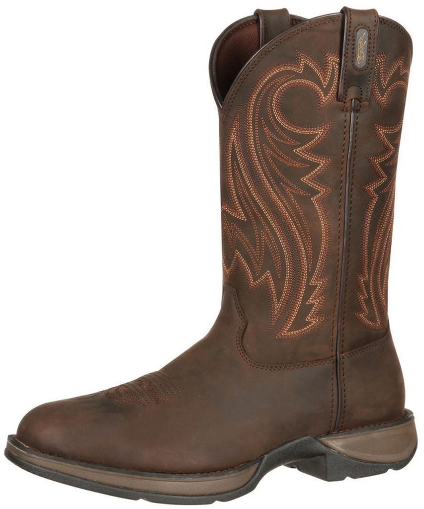 "Durango Western Boot Mens 12"" Rebel Leather Round Toe Chocolate DB5464 by Durango"