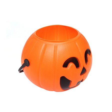17cm Halloween Portable Pumpkin Bucket Children Trick or Treat Pumpkin Candy Pail Holder](Halloween Candy Buckets)