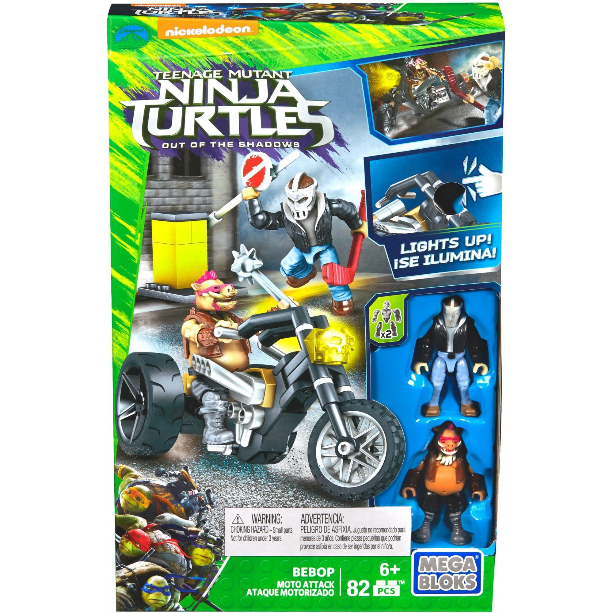 Mega Bloks Teenage Mutant Ninja Turtles Out of the Shadows Bebop Moto Attack by Mega Bloks