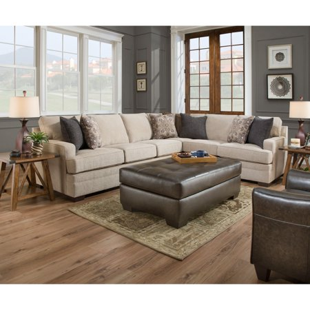 Simmons Upholstery Macy Sand Sectional Sofa