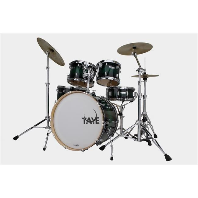 Taye SM522S-SPK-GBB 5 Piece 22 in. StudioMaple Stage Drum Shell Pack, Green to Black