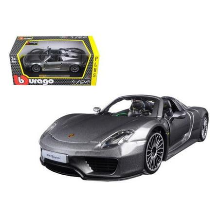 Porsche 918 Spyder Grey 1/24 Diecast Model Car by (Porsche 918 Spyder Liquid Metal Chrome Blue)