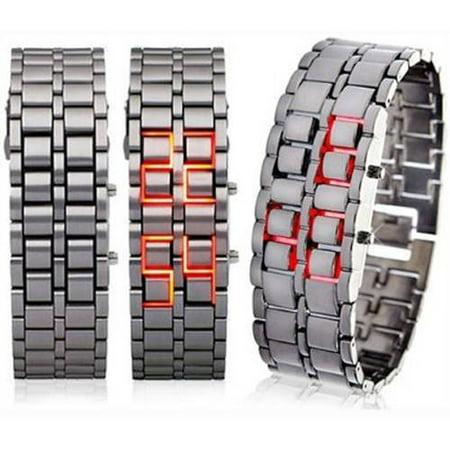 Men's and Women's Stainless Steel LED Digital Bracelet