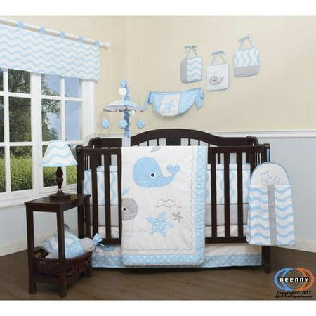 Harriet Bee Pierson Baby Lovely Whale Nursery 13 Piece Crib Bedding Set (Set of 13)