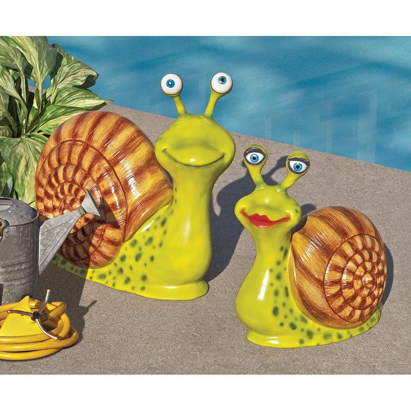 Madame and Monsieur Escargot Enormous Garden Snail Statue Set by Design Toscano