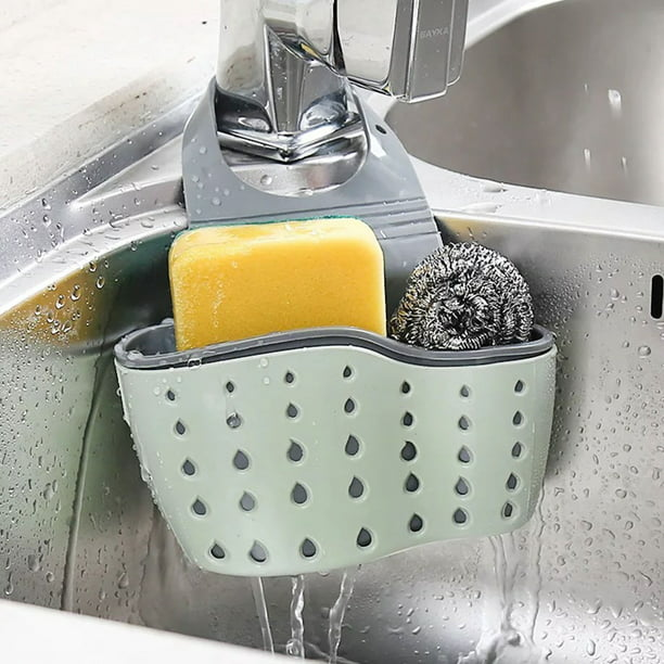 Eeekit Kitchen Hanging Sponge Holder Adjustable Rubber Sink Caddy Organizer Dishwashing Liquid Drainer Brush Rack Draining Basket For Scrubber Dish Brush Kitchen Accessories Organizer Walmart Com Walmart Com