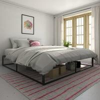 Novogratz Boutique Metal Storage Platform Bed, Assembles in Minutes, Multiple Sizes and Colors