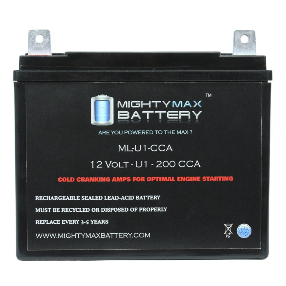 ML-U1 12V 200CCA Battery for White Outdoor 800 Lawn Tractor and Mower by Mighty Max Battery