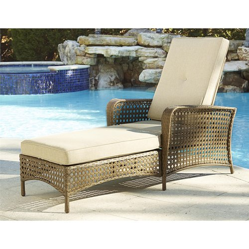 cosco outdoor adjustable chaise lounge chair lakewood ranch steel woven wicker patio furniture with cushion