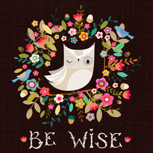 Oopsy Daisy - Floral Be Wise Canvas Wall Art 10x10, Bee Brown