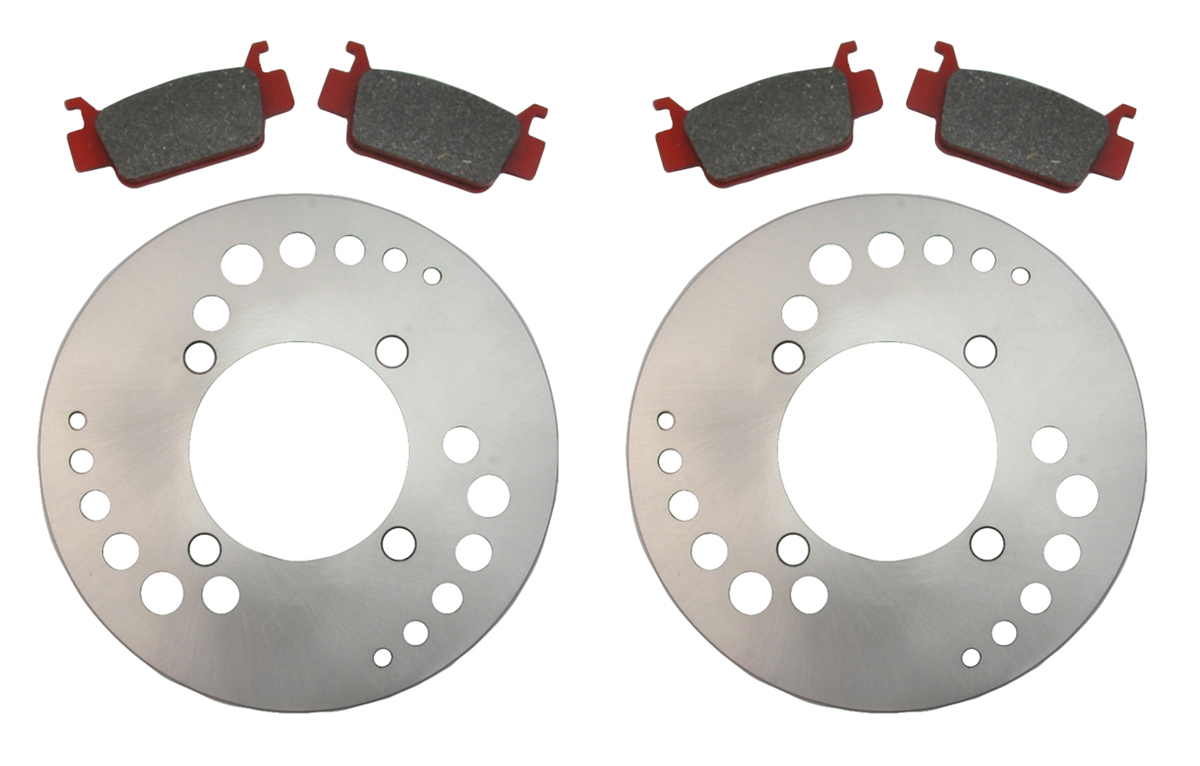 2009 2014 Honda TRX500 FA Foreman Rubicon 500 Front Pads /& Rear Brake Shoes