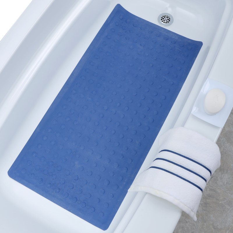 SlipX Solutions Extra Long Rubber Bath Safety Mat by SlipX Solutions