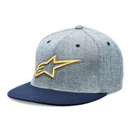 Alpinestars Mens Hat (ALPINESTARS Mens Brisk Flat Bill Flex Fit Hat Navy S/M )