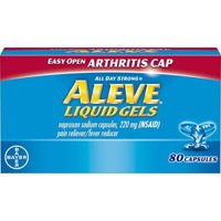 Aleve Easy Open Arthritis Cap Pain Reliever/Fever Reducer Naproxen Sodium Liquid Gels, 220 mg, 80 Ct