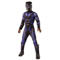 MARVEL: BLACK PANTHER MOVIE DELUXE BLACK PANTHER BATTLE SUIT COSTUME-12-14