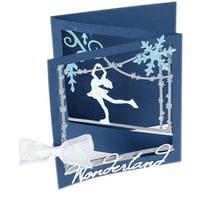 Sizzix Thinlits Dies By Lindsey Serata-ice Skater Tri-fold Card