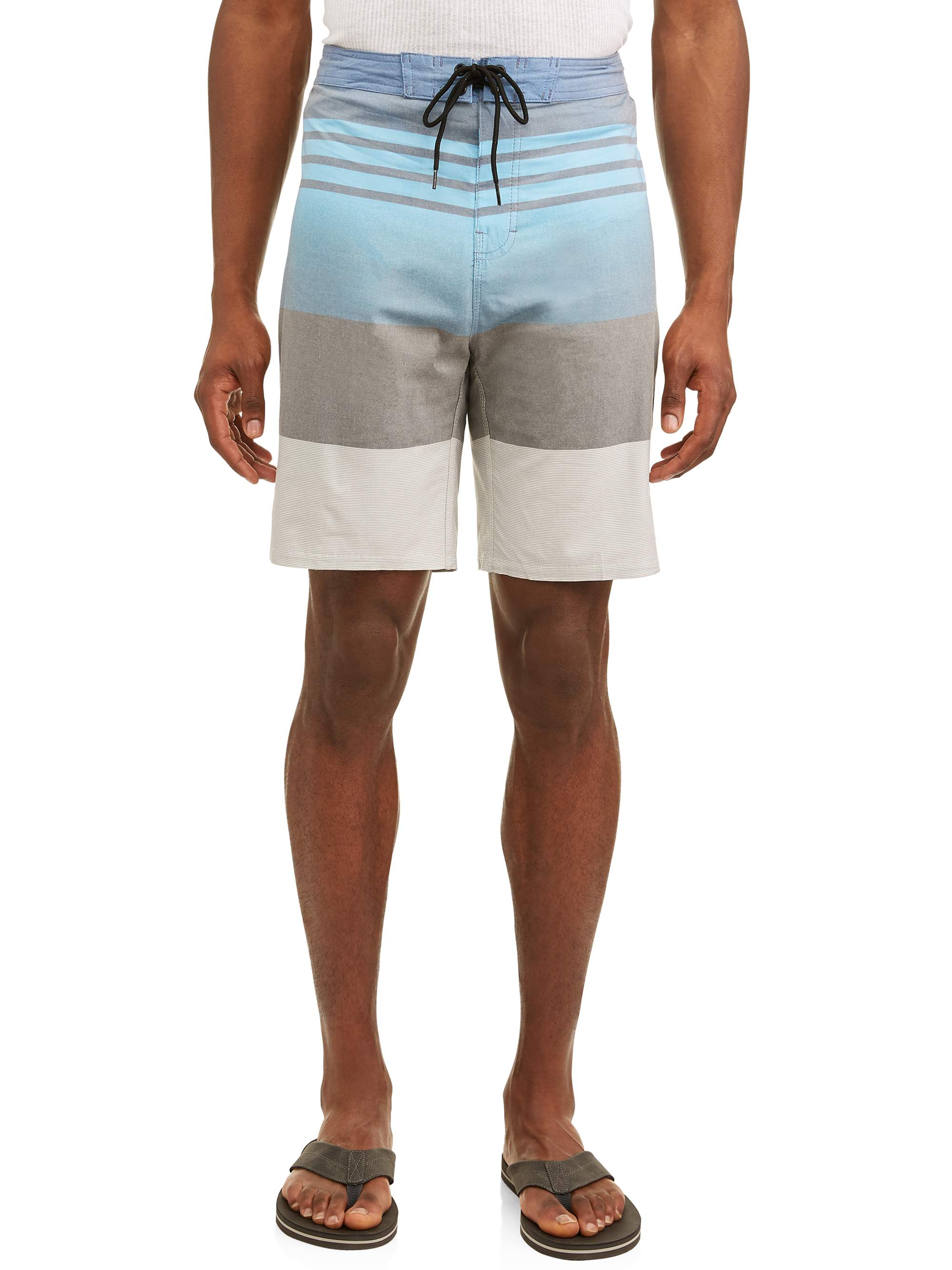 Men's Bolt Stripe Stretch E-Board Swim Short