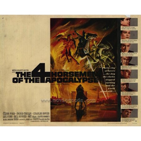 The Four Horsemen of the Apocalypse - movie POSTER (Half Sheet Style A) (22
