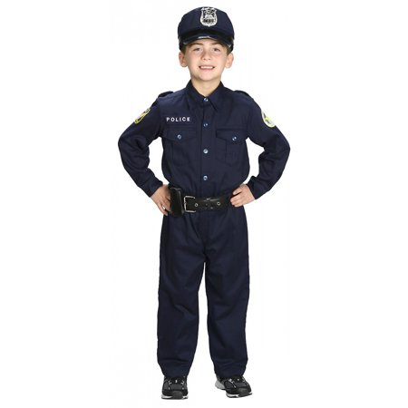 Boys Deluxe Police Officer Costume (Ladies Police Officer Costume)