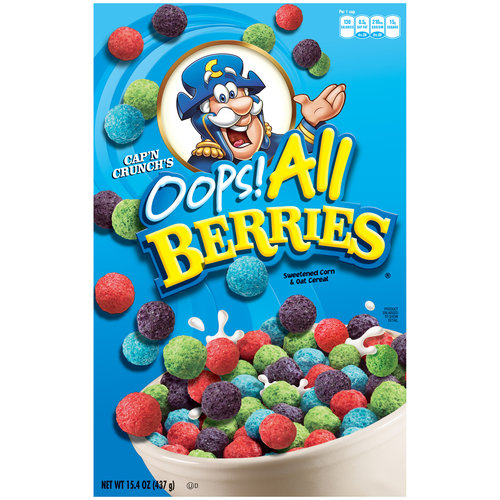 Cap'n Crunch Oops! All Berries Cereal, 15.4 oz