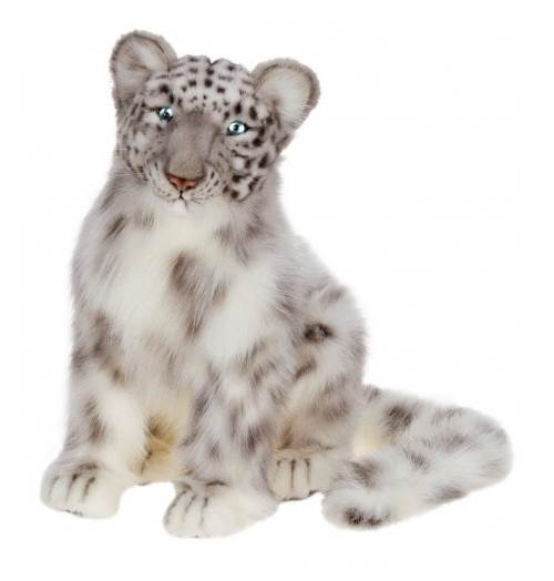 Animal Ring Collection Snow Leopard Hand-Painted Animal Education Plastic Ring