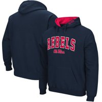 Ole Miss Rebels Big & Tall Arch & Logo Tackle Twill Hooded Sweatshirt - Navy