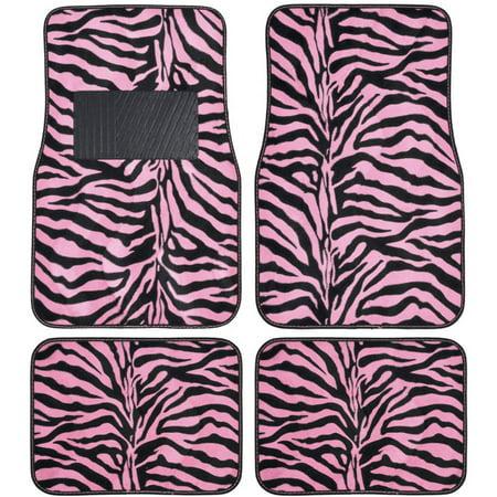 Bdk Zebra Car Floor Mats Animal Prints Mat 4 Pieces
