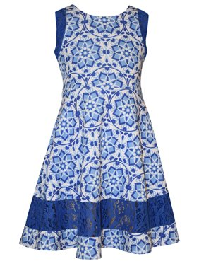 a88c5addb24 Product Image Bonnie Jean Tween Girls Coastal Blue Print Sundress 10