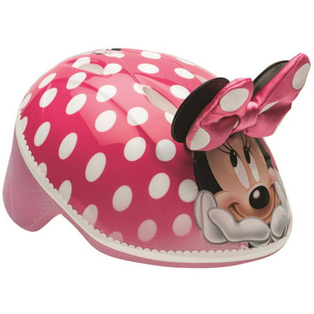 Bell Disney Minnie Mouse 3D Bike Helmet, Pink Polka Dots, Toddler 3+