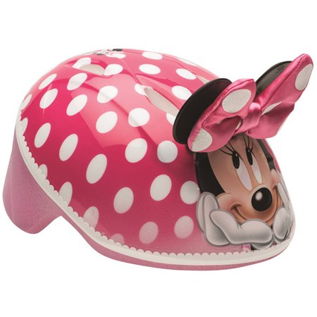 Bell Disney Minnie Mouse 3D Bike Helmet, Pink Polka Dots, Toddler 3+ (48-52cm) (Toddler Helmet 3 Year Old Girl)