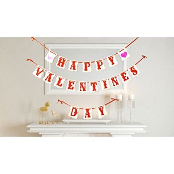 USA-SALES Happy Valentines Day Banner, Valentines Day Decorations, by USA-SALES Seller (Valentine Classroom Decorations)