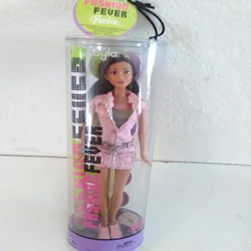 Barbie Fashion Fever: Kayla Doll With A Pink Zip Up Dress with a Olive Green Tank Top & Gray Belt
